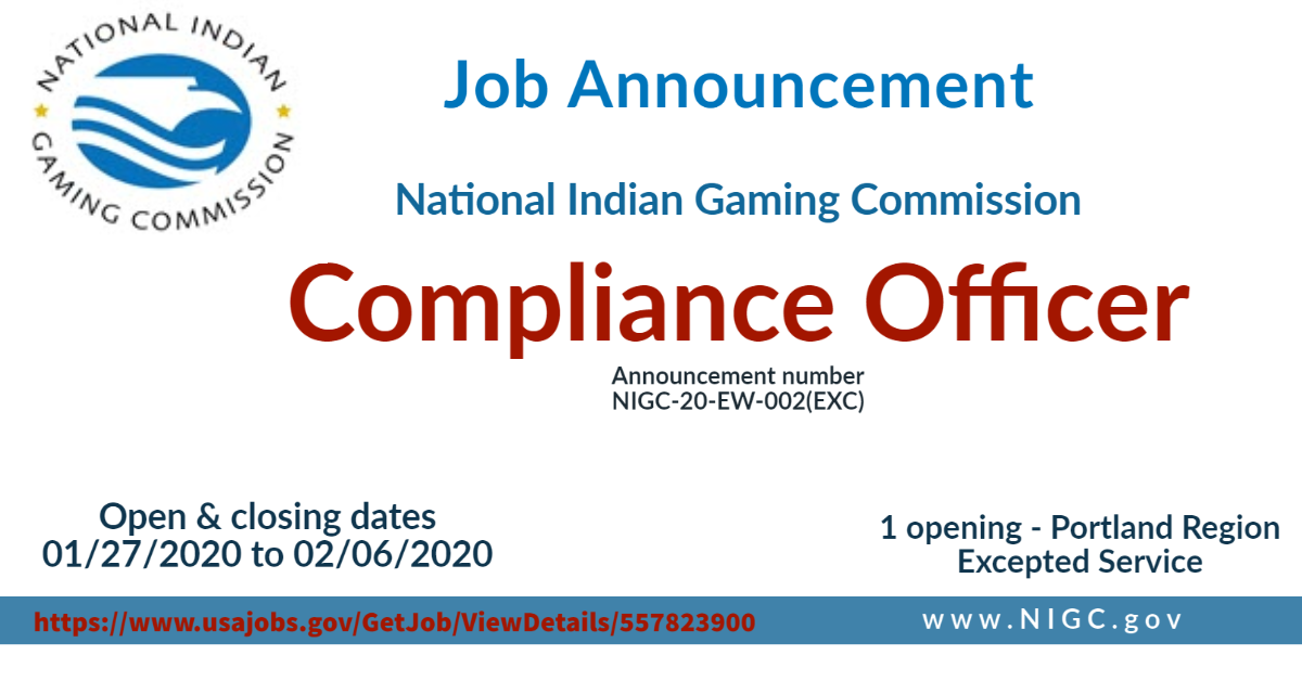 NIGC Employment Opportunity: Compliance Officer (Portland)
