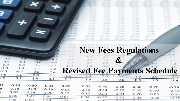 New Fee Worksheet & Revised Fee Payments Schedule