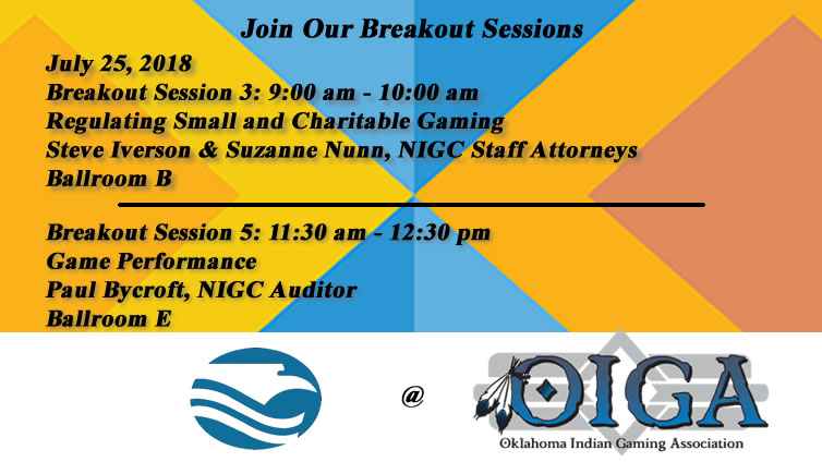 NIGC Breakout Sessions at OIGA