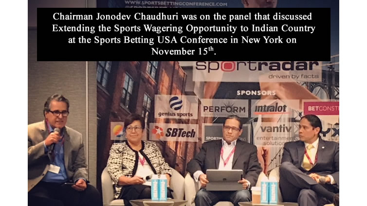 Chairman Chaudhuri on the panel for the Sports Betting USA Conference in New York