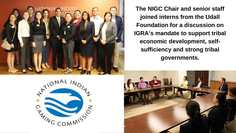 The NIGC Chair and senior staff joined interns from the Udall Foundation