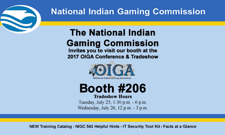 NIGC's Booth Information for OIGA