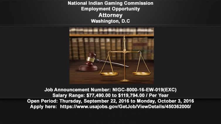 NIGC Employment Opportunity: Attorney