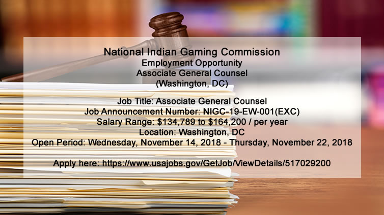 NIGC Employment Opportunity: Associate General Counsel (Washington, DC)