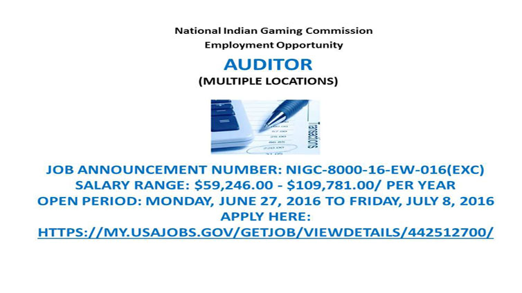 NIGC Employment Opportunity: Auditor