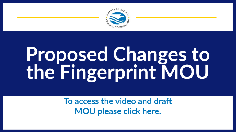 Proposed Changes to the Fingerprint MOU Video