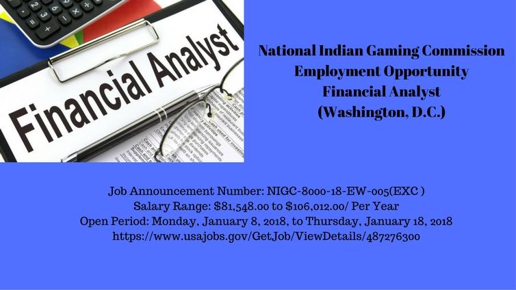 NIGC Employment Opportunity: Financial Analyst