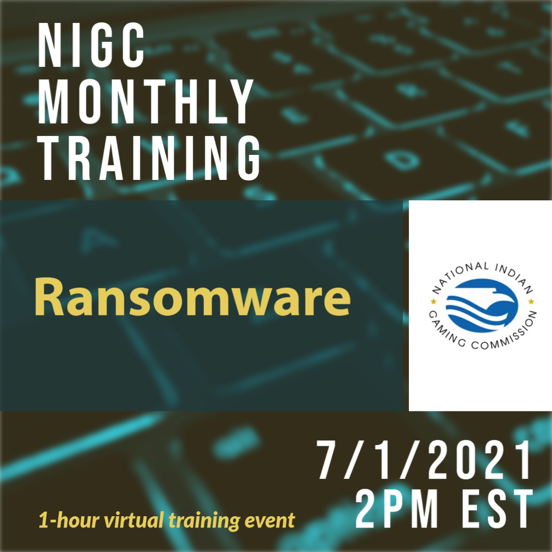 Monthly Training: Ransomware