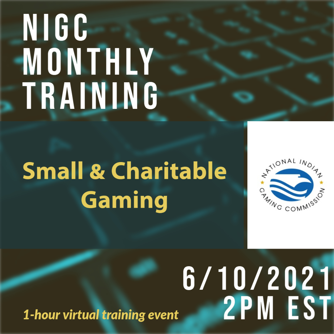 Monthly Training: Small & Charitable Gaming